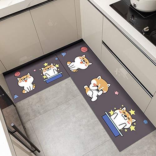 HLXX Alfombrilla de Cocina Antideslizante para Suelo, Alfombra de baño Moderna, Felpudo de Entrada, tapete, alfombras de Moda, Alfombrilla de Dormitorio, A18, 50x160cm