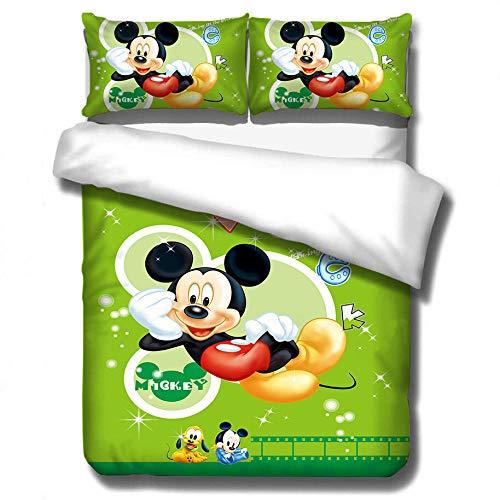 ZPYHJS Mickey Mouse 3D Juego de Funda nórdica de Dibujos Animados para niños de 3 Piezas, Suave y cómoda Funda nórdica de tamaño Completo para niños y niñas, Textiles para el hogar-D_135x200cm (2pcs)
