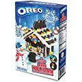 Oreo Cookies Gingerbread Mini House Kit Pre-baked + Free Shining Star Fruit Snacks Candy Pack | Pre-Baked Chocolate Cookies Pre-Made Icing Candy Jewels Fruit Gummies
