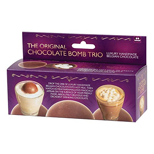 3 Pack Hot Chocolate Bomb Trio Milk Silky Mini Marshmallow Bedtime Kids Him Her Sleep Birthday Fathers Day Secret Santa Ideal Gift for All Occasions