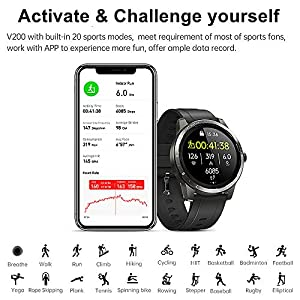 H4 Fitness Health 2in1 Smart Watch for Men Women Smartwatch with All-Day Heart Rate / Blood Pressure / Sleep Monitor IP67 Waterproof Sports Activitity Tracker Bluetooth Watch (Grey)