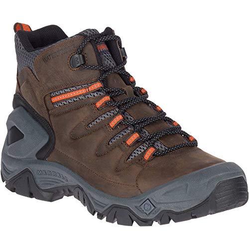 Merrell Men's STRONGBOUND Peak MID Waterproof Hiking Boot, Espresso/Rock, 11