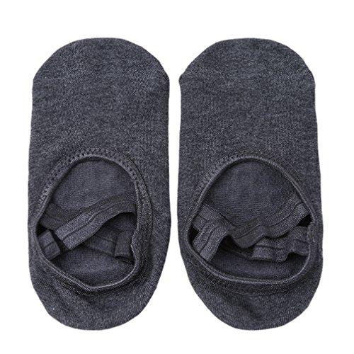 Ifdayy - Calcetines de yoga con correas cruzadas para mujer, de algodón, para bailar barre, color gris oscuro