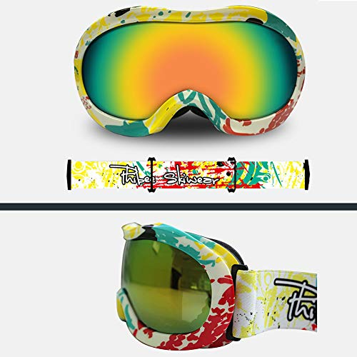 Aizihan Kids Snow Goggles, Kids Snow Snowboard Goggles Fits Children Youth Boys Girls Halloween Christmas Holiday Best Gift,White