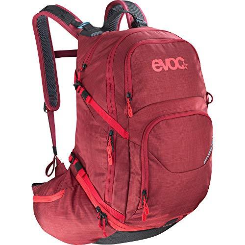 EVOC EXPLORER PRO 26l Rucksack Tourenrucksack für Bike-Touren und Trails (Riesiger 26 Liter Stauraum, durchdachtes Taschenmanagement, AIRFLOW CONTACT System, inkl. Regenhülle), Rubin Rot
