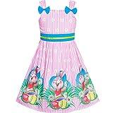 Sunny Fashion Vestido para niña Pascua de Resurrección Conejito Búsqueda de Huevos Tanque Corbata de moño 8 años