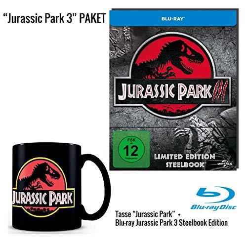 Jurassic Park 3 Blu-ray Steelbook + Jurassic Park Tasse schwarz