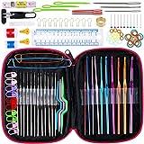 Agujas Ganchillo 22pcs bricolaje 22 tamaños Crochet Hooks agujas de tejer puntadas de ganchillo artesanía Caso Agulha Conjunto de tejer herramientas de costura Herramientas GYH 100 piezas 5