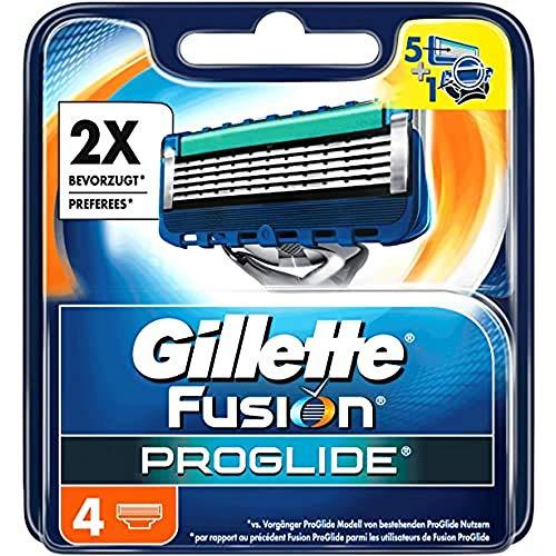 Gillette Fusion 5 - Cuchillas de afeitar con recortador para precisión y recubrimiento deslizante (4 unidades)