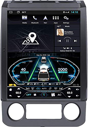 Car Radio Stereo Android 10.0 T-Style Head Unit Navigation for F150 2015 to 2019,F250/F350/2017 to 2019 Car Stereo 4GB+64GB,12.1 Inch IPS Touchscreen with Carplay/DSP/BT/4G/Voice Control/TMPS