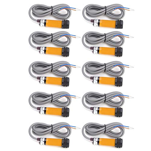 Interruptor fotoeléctrico, material ABS Conductividad fuerte Tiempo de respuesta ≤1ms Sensor de interruptor fotoeléctrico de cable engrosado, para uso industrial
