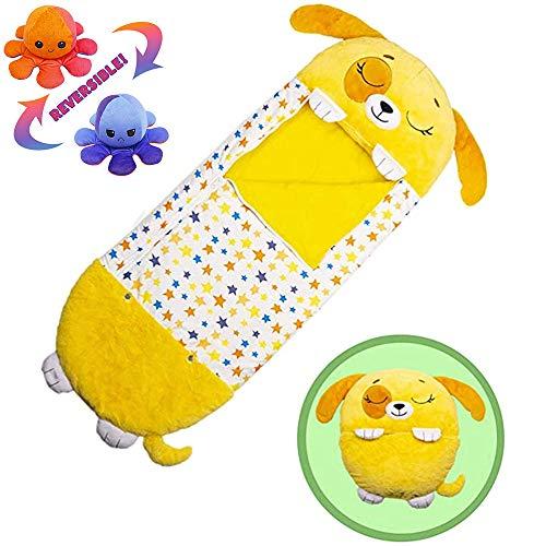 Divertidos sacos de dormir con pulpo de peluche para niños, 2 en...