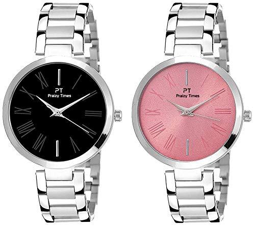 EDINARO Analogue Silver Dial Silver Bracelet Girl's & Women's Wrist Watch (ED-2040W)