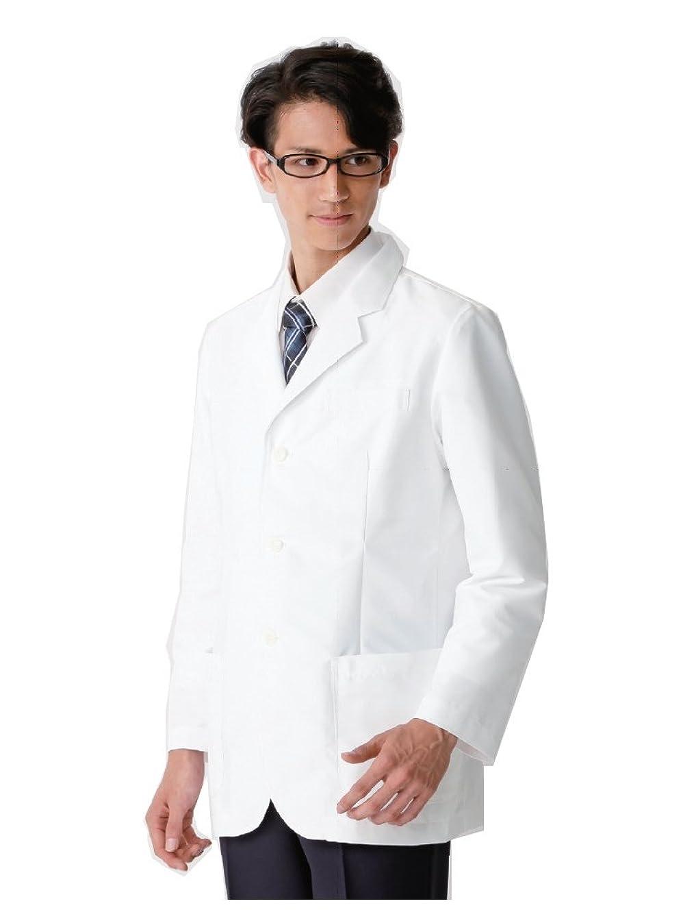 昆虫を見る共感する地震(カゼン) KAZEN AP-RON アプロン メンズハーフコート 診察衣 ドクターウェア 116-90