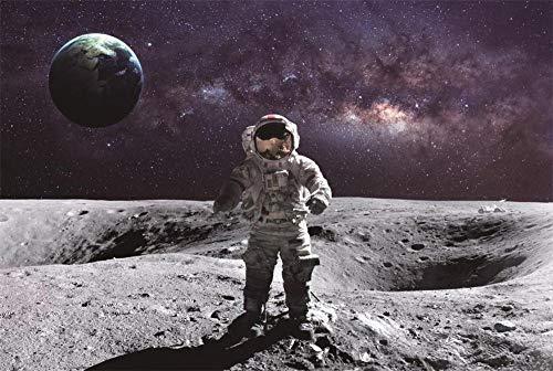rompecabezas de madera 1000 piezas para adultos Astronauta en el espacio Divertidos juegos familiares para aliviar el estrés Decoración del hogar 30inx20in(75cmx50cm)