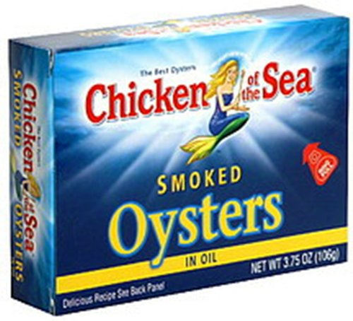 Chicken of The Sea Smoked Oysters, 3.75-Ounce (Pack of 9)