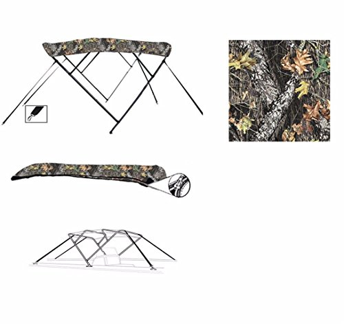 Fantastic Prices! SBU-CV 8 oz 4 Bow Camouflage Mossy Oak Break UP CAMO Boat Bimini TOP Sunshade for ...