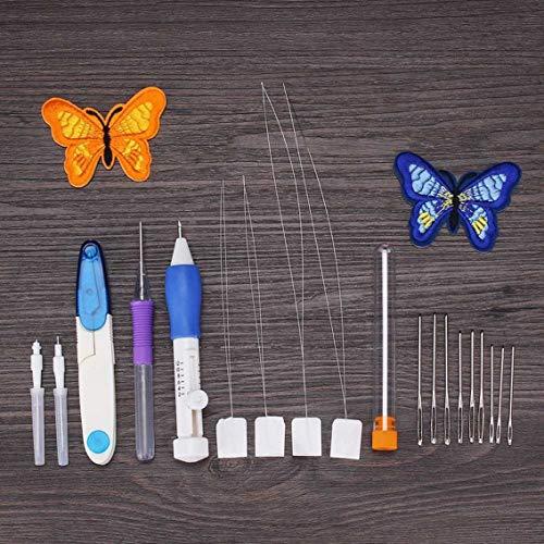 Russische borduurwerk Tool Box Handmatige DIY Poke Muziek Accessoires Naaien Kit 50 Kleur Borduurwerk Tool Box Lijn Vlinder Set - Meerdere kleuren