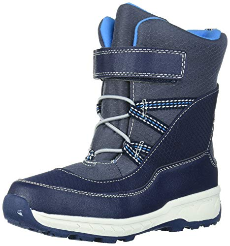 Carter's Boys' Uphill Snow Boot, Navy, 2 M US Little Kid