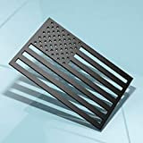 3Pack 3D American Flag Emblem Decal Cut-Out,Subdued American Flags Tactical Military Flag USA Decal 5'x3' (Matte Black 3PCS)