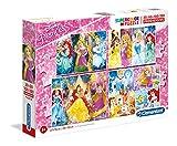 Clementoni Disney Puzzles 20+60+100+180 Piezas Princess, Multicolor (07721.2)