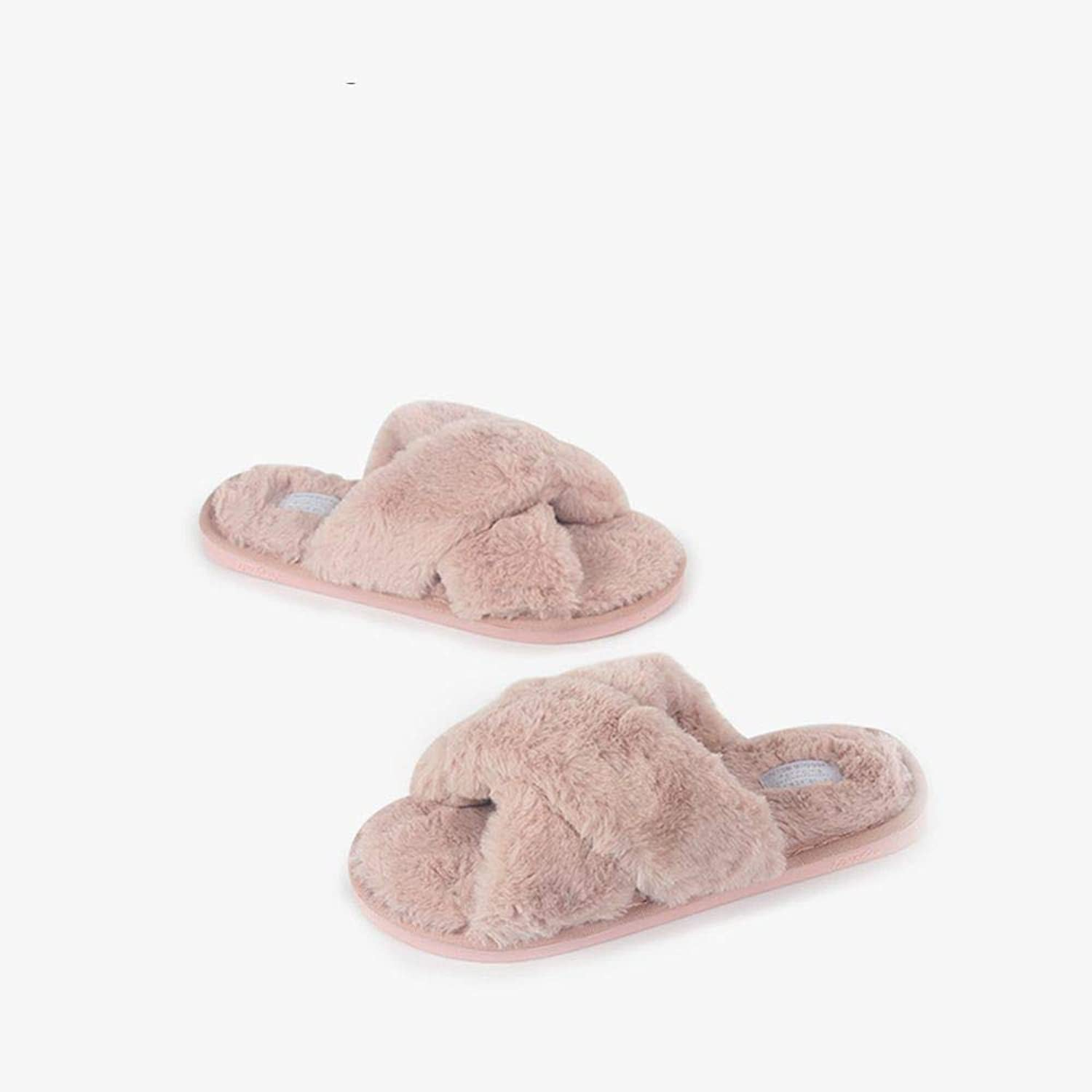 AILIUJUNBING Home Cotton Slippers, Women's Home Slippers, Slippers, Autumn Winter Indoor Slippers Cozy Pretty