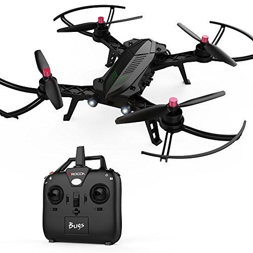 DROCON Bugs 6 Motor Quadcopter sin escobillas Drone de Carreras 1806 1800 KV premontado RTF Quadcopter para Entrenamiento (actualizable a...