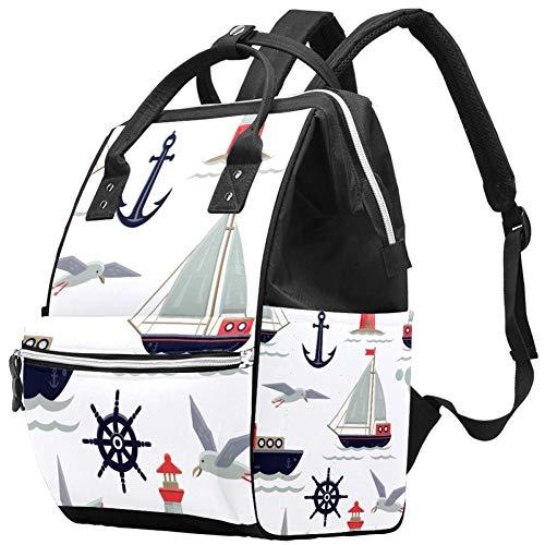 Set Sail Travel Rucksack Casual Daypack Maternity Nappy Bag Organizer Nursing Bottle Bag