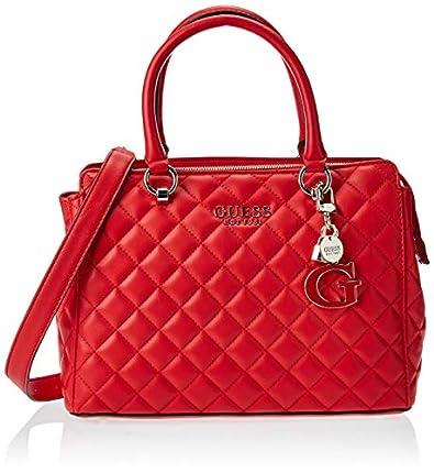 Guess Bolsos Mano MELISE Luxury Satchel para Mujer Rojo Talla única