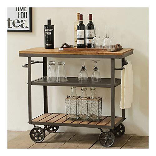 QWERTY Plateau Repas Amovible Chariot De Bar Multi-Fonctions for La Cuisine Chariot De Service Chariot de Service de Bar (Color : 70 * 40 * 80cm)