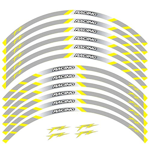 Qwjdsb para Yamaha FAZER FZ1 FZ6 FZ-07 FZ8 FZ-09 FZ-10 FZS1000, Pegatina de Motocicleta, calcomanías de Ruedas traseras Delanteras, Bandas Reflectantes para Llantas