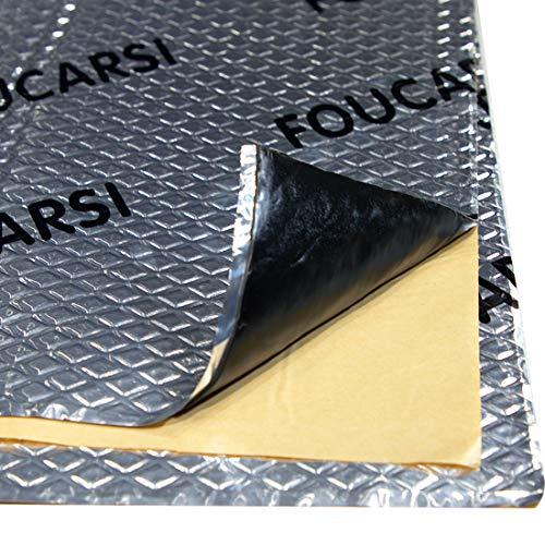 GRNERIC 80 mil 36 sqft Car Sound Deadening Mat, Waterproof Auto Foil Installation, Sound Dampening Insulator, Butyl Automotive Sound Deadener, Audio Noise Insulation and dampening (Silver)
