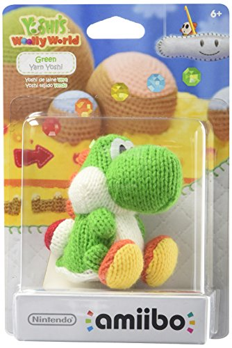 Nintendo® Green Yarn Yoshi amiibo Figure for Yoshis Woolly World
