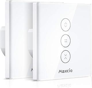 【LED Controlable】WiFi Interruptor Persiana, Maxcio Interruptor Inteligente Compatible con Alexa y Google Home, Control de ...