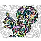 Pintura Por Númerosadultos Bricolaje Acrilico Kits Pintura Al Óleo Cumpleaños Creativo Regalos Por Niños Principiantes Color Animal 40X50Cm Con Marco