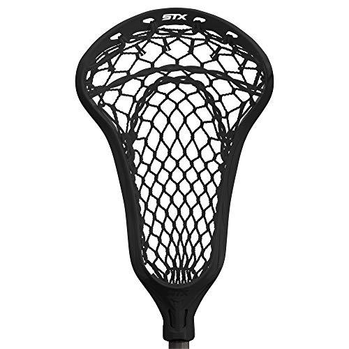 STX Lacrosse Exult 400 Girls Complete Stick with Crux Mesh Pro Pocket, Black (Exult 403)