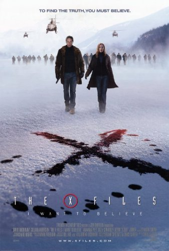 (27x40) The X Files: I Want to Believe Snow Movie Poster by MG Poster