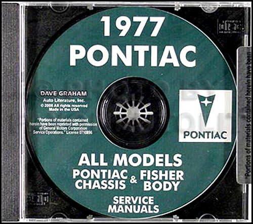 1977 Pontiac Quantity limited Shop CDrom Manuals High order on