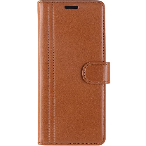 ProCase Galaxy Note 8 Case, Folio Folding Wallet Case with Flip Cover and Stand, Credit Card Slots and Kickstand Protective Case for Galaxy Note 8 2017 -Brown