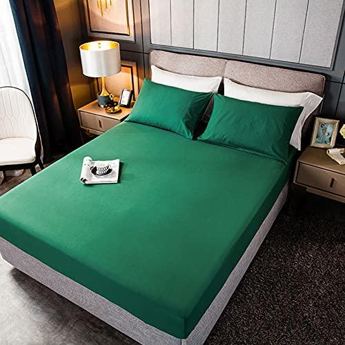 HAIBA Fundas de almohada transpirables, sin arrugas, gruesas y suaves, protege del polvo y la caspa – Ideal para el hogar y el hotel, 48 x 74 cm (2 unidades), verde oscuro