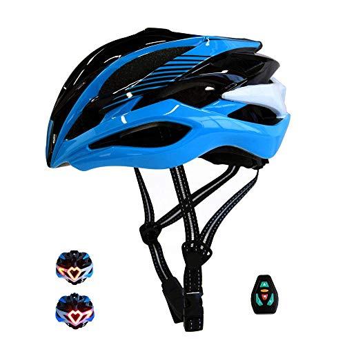 SJF Casco de Bicicleta Inteligente, Casco de Ciclismo Bluetooth de montaña, señales...