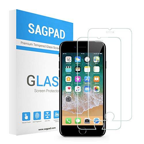 SAGPAD [2 Stück] Panzerglas kompatibel mit iPhone 6 Plus/ 6s Plus [Transparent] - Panzerglasfolie Panzerfolie Glasfolie Displayschutzfolie Schutzglas - Schutzfolie iPhone 6 Plus/6s Plus [Transparent]