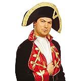 NET TOYS Napoleon Hut Piraten Zweispitz Historische Kopfbedeckung Offizier Samthut Edler Faschingshut Uniform Kostüm Zubehör