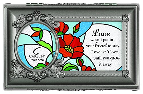 Carson Home Accents Give it Away Music Box Plays Beautiful Dreamer