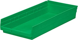 $82 » Akro-Mils 30178 18-Inch by 11-Inch by 4-Inch Plastic Nesting Shelf Bin Box, Green, Case of 12