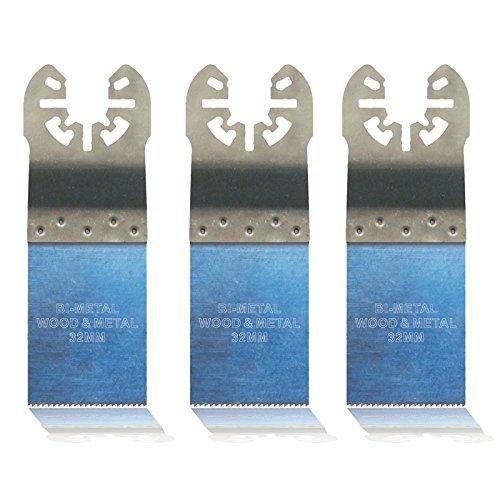 3x Hoja de sierra universal, 32mm BIM para Makita BTM50