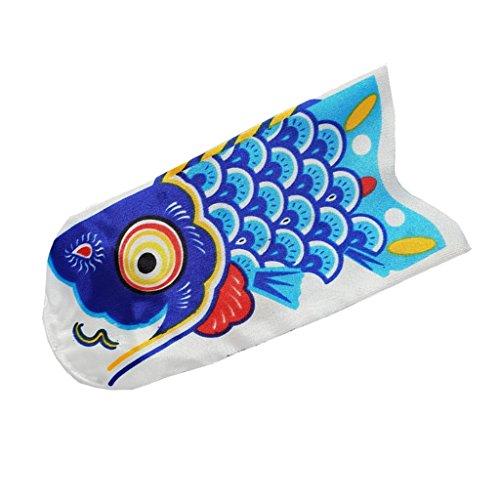 KESOTO Wunderschöne Windsack Windspiel Windsocke Windanzeiger Flagge Koi Nobori - Blau, 15 cm
