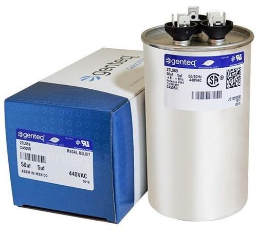 GE Genteq Round Capacitor 50 5 uf MFD 440 Volt 27L569BZ3 27L569