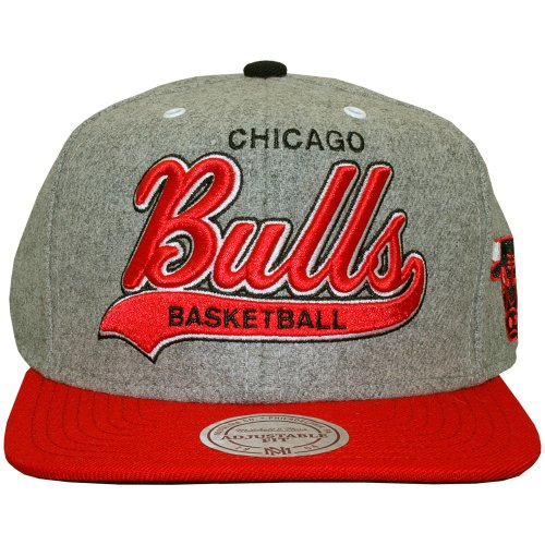 Mitchell & Ness - Casquette Strapback Homme Chicago Bulls Tailsweeper Melton - Heather Grey