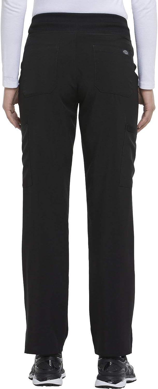 Dickies EDS Essentials Pantalon de travail médical pour femme avec taille élastique Noir